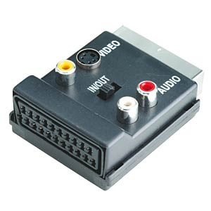 Scart plug to 3 RCA socket + 4-pin mini-DIN socket FREI