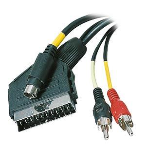 AVK 416S - Scart Kabel Scart Stecker auf Mini-DIN Stecker