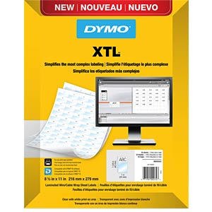XTL Label, polyester, self laminating DYMO 1908554