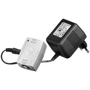 Coax-opto converter, Toslink coupling/RCA coupling GOOBAY