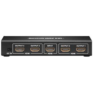 HDMI Splitter, HDMI Buchse auf 4x HDMI Buchse GOOBAY 90659