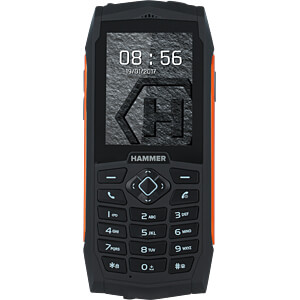 "Mobiltelefon, Outdoor, 6,1cm (2,4"") Display, orange HAMMER"