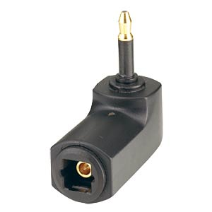 Optical-fibre adapter mini-plug/TOSLINK coupler FREI