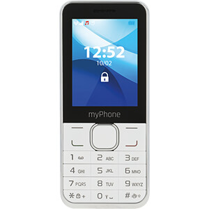 "Mobiltelefon, 6,1cm (2,4"") Display, weiß MYPHONE"