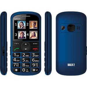 Mobiele telefoon, 5,6cm (2,2) display, blauw MYPHONE