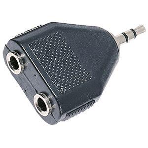 NTA 195 - 3,5 mm Stereo Klinken Stecker auf 2x Stereo Klinken Buchse