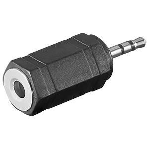 2.5 stereo jack plug to 3.5 stereo jack connector. FREI