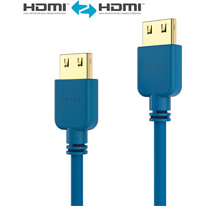 HDMI Kabel - PureInstall - Slim 1,50m - blau PURELINK PI0502-015