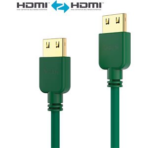 HDMI Kabel - PureInstall - Slim 1,00m - grün PURELINK PI0503-010