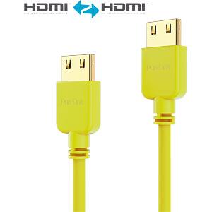 HDMI Kabel - PureInstall - Slim 1,50m - gelb PURELINK PI0504-015
