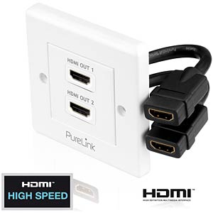 HDMI socket - 2 port - PureInstall series PURELINK PI105