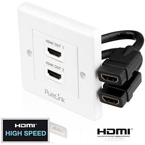 HDMI Anschlußdose, 2-fach, PureInstall Serie PURELINK PI105