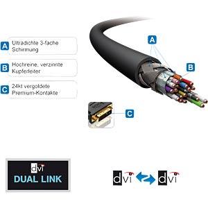 DVI cable - dual link - PureInstall series 10.00 m PURELINK PI4200-100