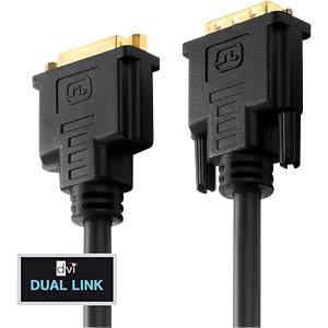 DVI Verlängerung DVI 24+1 Stecker auf Buchse, Dual Link, 2 m PURELINK PI4300-020