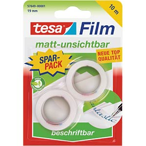 Matt invisible tesafilm®, 10 m x 19 mm/2 rolls TESA 57649-00001-00