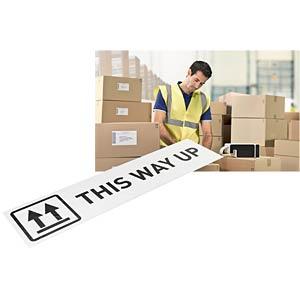 Etikettenkartusche, Papier, 88 mm x 22 m, schwarz/ weiß LEITZ 70030001
