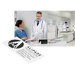 Etikettenkartusche, Adresse, 36x 88 mm, 600 Stück, schwarz/ weiß LEITZ 70120001