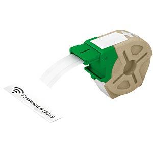 Etikettenkartusche, Plastik, 12mm x 10m, schwarz/ weiß LEITZ 70150001
