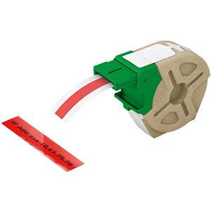 Etikettenkartusche, Plastik, 12mm x 10m, schwarz/ rot LEITZ 70150025