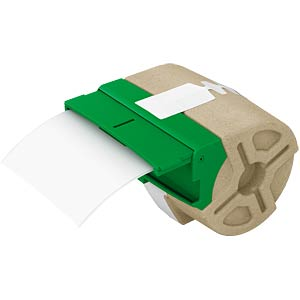 Etikettenkartusche, Plastik, 88mm x 10m, schwarz/ weiß LEITZ 70160001