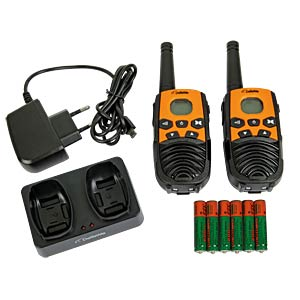 PMR Funkgerät, 2-er Set, orange/schwarz DETEWE 208094
