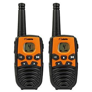 PMR Funkgerät, 2-er Set, orange/schwarz DETEWE 208092