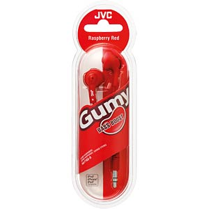JVC Gumy earphones/red JVC HA-F160-R-E