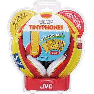 Kindgerechter Stereokopfhörer, rot JVC HA-KD5-R