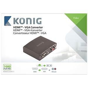 HDMI - VGA Konverter KÖNIG KNVCO3411