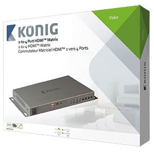 HDMI Matrix Umschalter 2->4 KÖNIG KNVMA3424