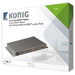 HDMI Matrix Umschalter 4->2 KÖNIG KNVMA3442