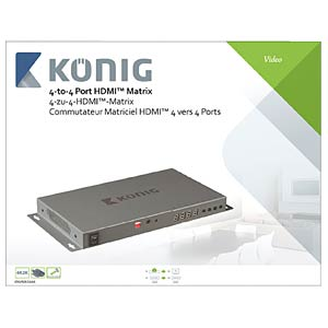 HDMI Matrix Umschalter 4->4 KÖNIG KNVMA3444