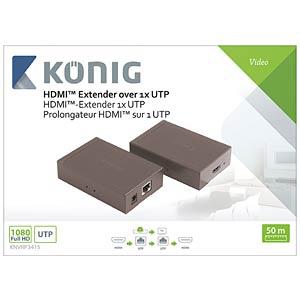 HDMI Extender über CAT5e/6-Kabel KÖNIG KNVRP3415
