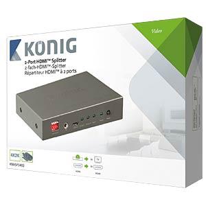HDMI Splitter, 1->2 KÖNIG KNVSP3402