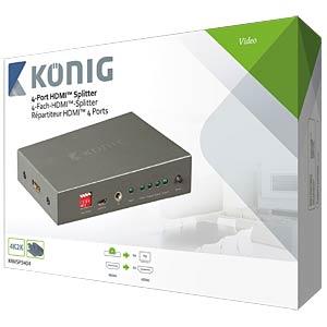 HDMI Splitter 1->4 KÖNIG KNVSP3404