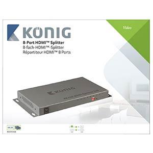HDMI Splitter 1->8 KÖNIG KNVSP3408