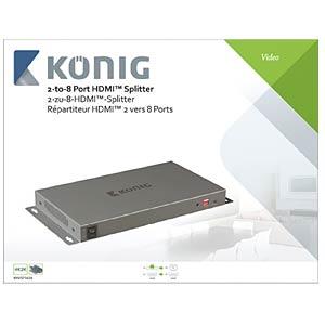 HDMI Splitter 2->8 KÖNIG KNVSP3428