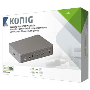 HDMI Schalter 4->1 KÖNIG KNVSW3404