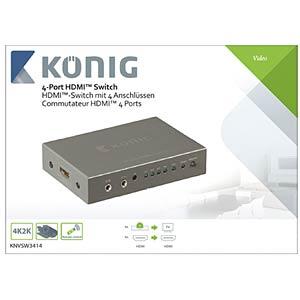 HDMI Schalter 4->1 KÖNIG KNVSW3414