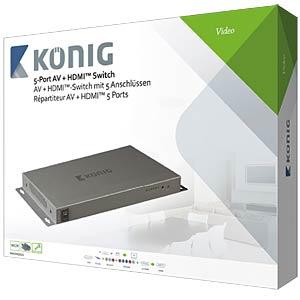 HDMI Switch, 2x HDMI /1x YUV / 1x Comp. KÖNIG KNVSW3425