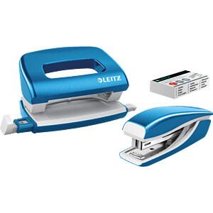 NeXXt WOW Set Mini-Heftgerät und -Locher, blau LEITZ 55612036