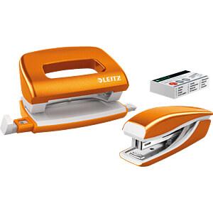 NeXXt WOW Set Mini-Heftgerät und -Locher, orange LEITZ 55612044