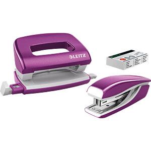 NeXXt WOW Set Mini-Heftgerät und -Locher, violett LEITZ 55612062