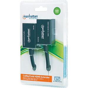 HDMI Cat5e/Cat6 Extender, verlängert das 1080p-Signal auf bis zu MANHATTAN 207386