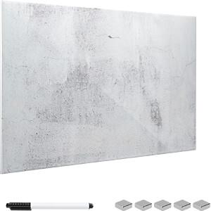 NAVARIS 45724.04 - Glas - Magnetwand 60x40 cm - Beton Optik Design