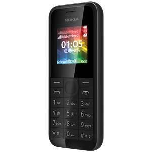 Mobiltelefon, Dual-SIM, schwarz NOKIA A00025950
