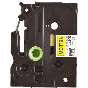 Flexi-Tape, schwarz auf gelb, 12mm BROTHER TZE-FX631