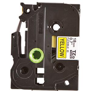 Flexi-Tape, schwarz auf gelb, 18mm BROTHER TZE-FX641