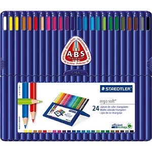 Buntstifte ergo soft, 24 Farben STAEDTLER 157 SB24