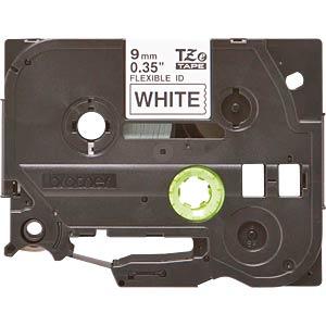 Flexi-Tape, schwarz auf weiß, 9mm BROTHER TZE-FX221